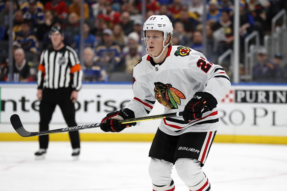 Blackhawks' Adam Boqvist plays in 10th NHL game, officially starting the clock on his entry-level contract