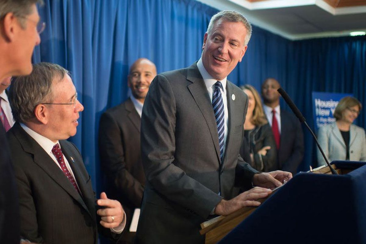 Mayor Bill de Blasio, Comptroller Scott Stringer, the Community Preservation Corporation and Citi announce a new partnership to invest $350 million in affordable housing throughout New York City on Wednesday July 30, 2014 at University Senior Housing in the Bronx.