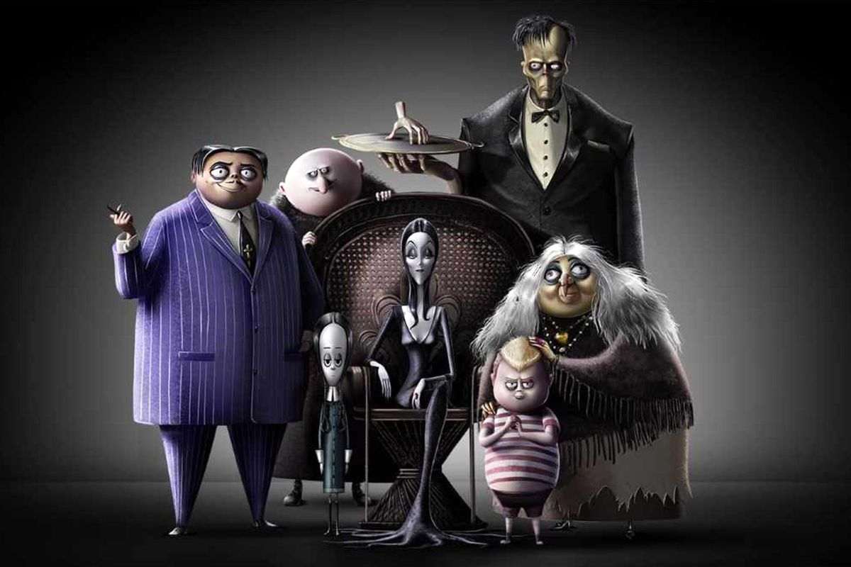 The Addams Family - the cast animated the tradition of the original comic strip