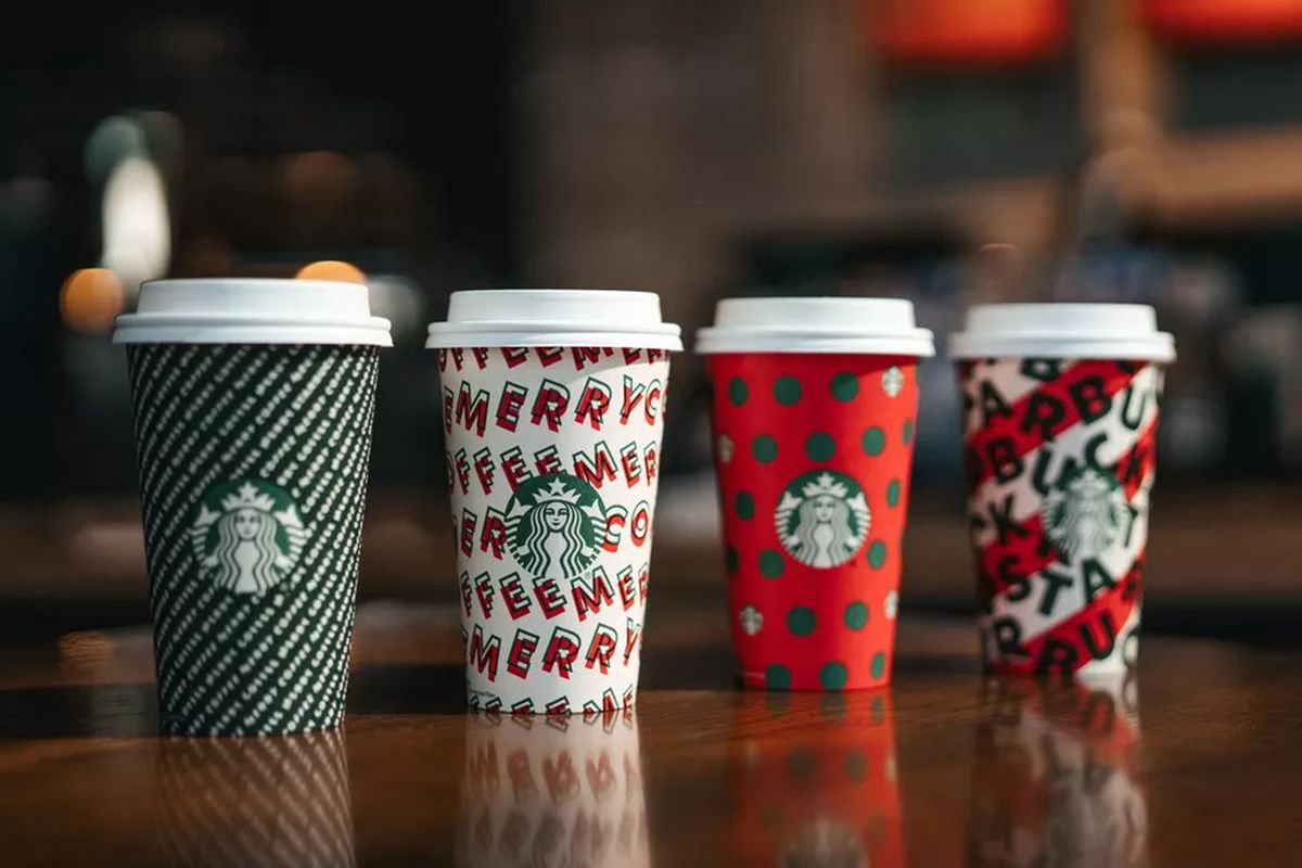 The 2019 Starbucks holiday cups.