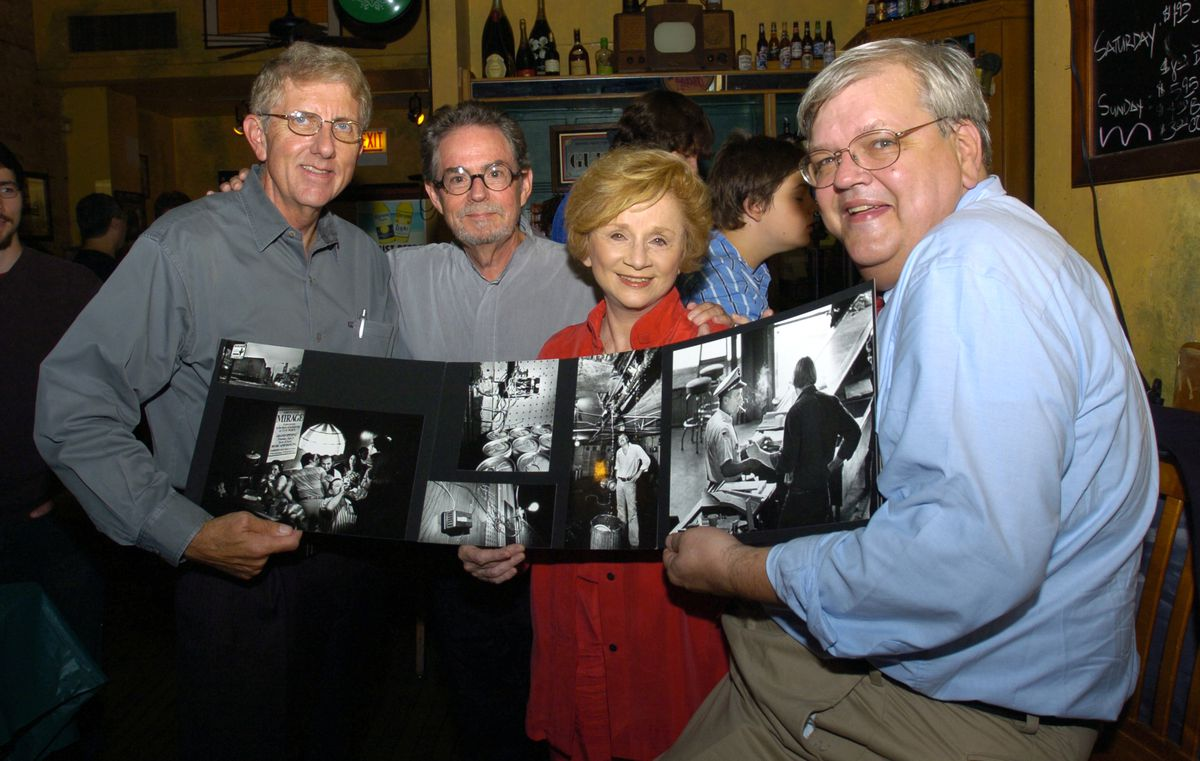 William Recktenwald (far left) pictured in 2008 with his former colleagues on the Sun-Times Mirage Tavern series.