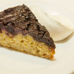 Cornmeal Cake with Blueberries