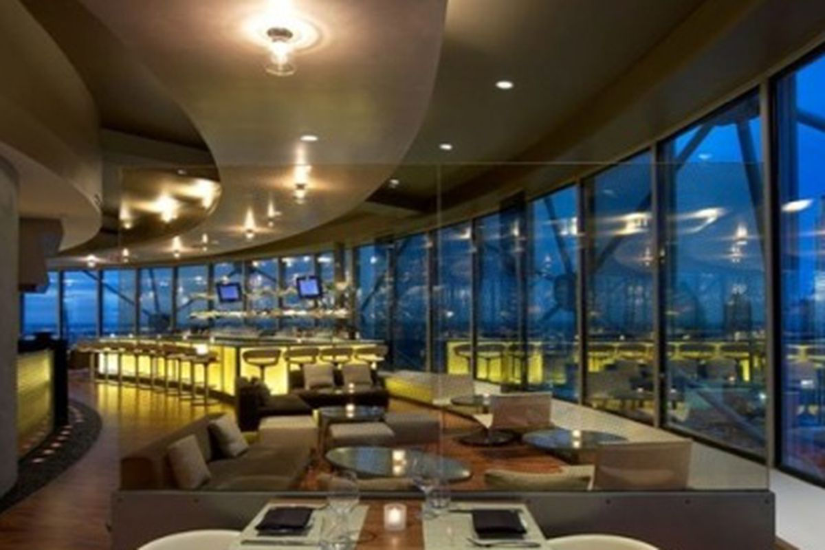 Wolfgang Puck's Five Sixty in Reunion Tower.
