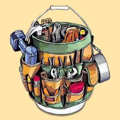 Bucket-Liner Tool Organizer