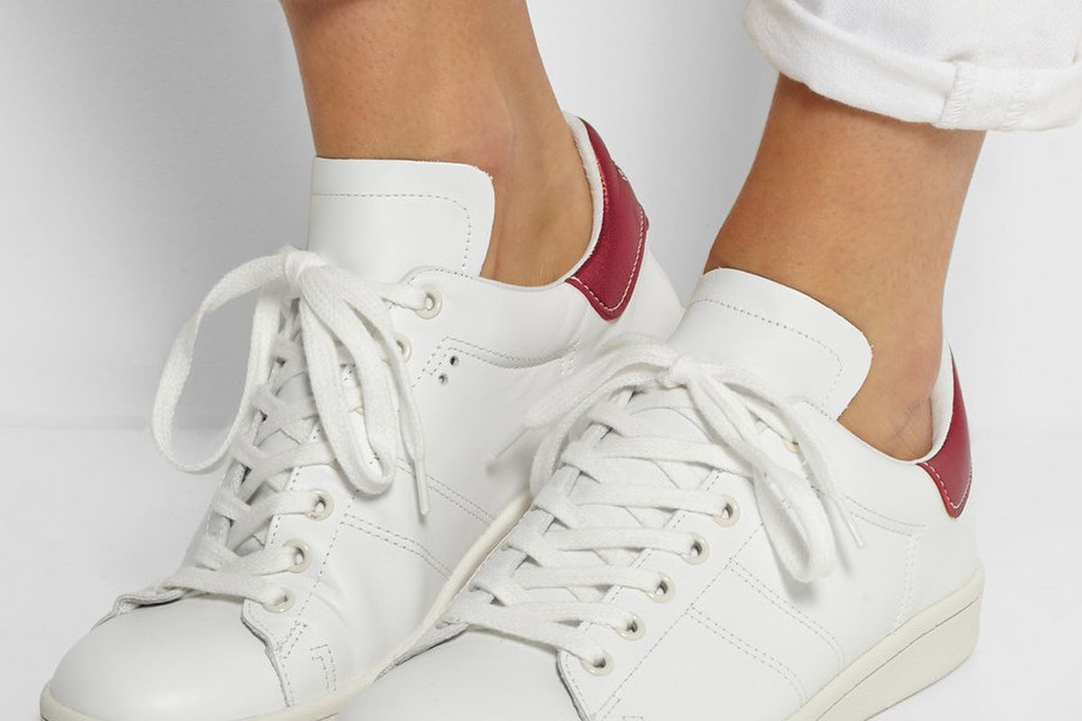 these isabel marant sneakers look just like adidas stan smiths racked. Black Bedroom Furniture Sets. Home Design Ideas