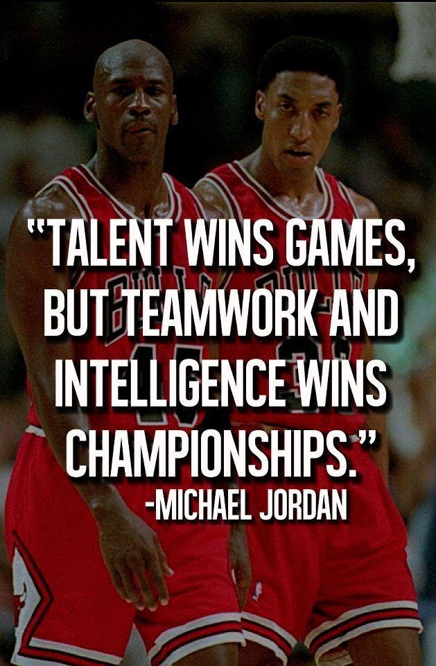 Michael Jordan championship quote.