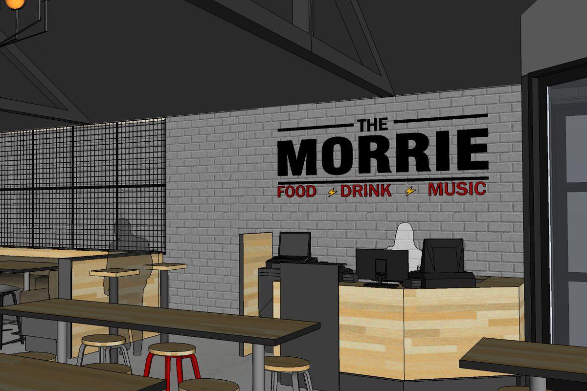 An interior rendering of The Morrie in Royal Oak