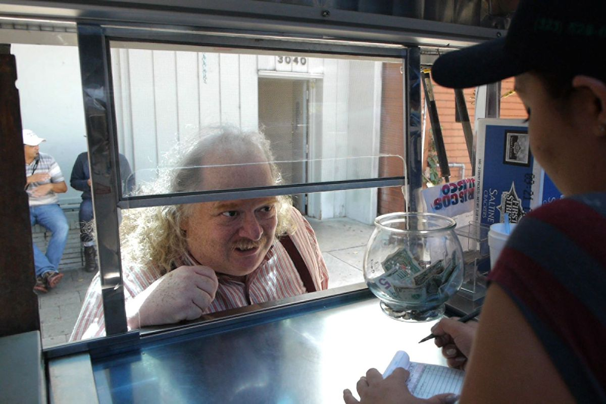 LA Times food critic Jonathan Gold, in the 2015 documentary City of Gold.