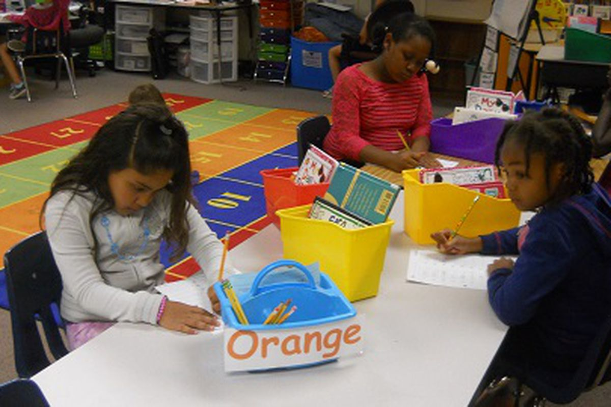 File photo of rising second-graders at Aurora's Jewell Elementary.