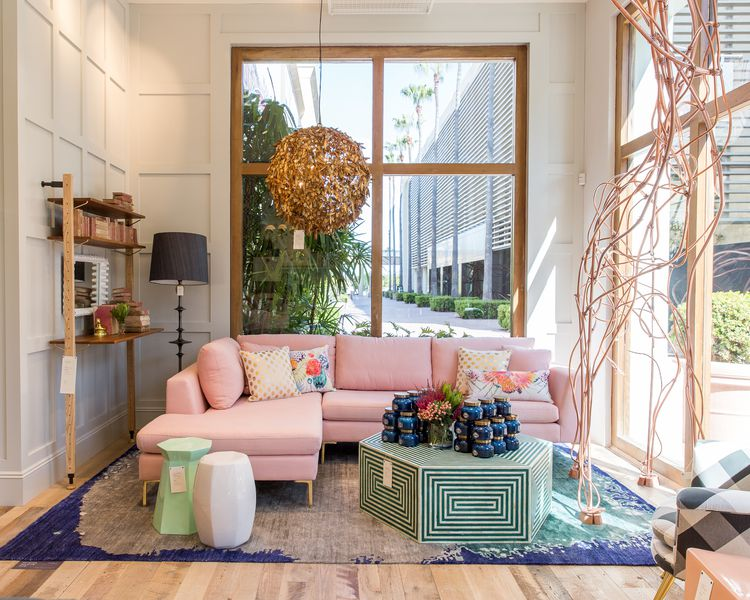 Anthropologie 39 s upgraded newport beach store offers major for Home decor offers