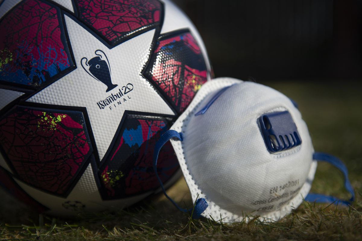 UEFA Champions League Matchball and Protective FaceMask