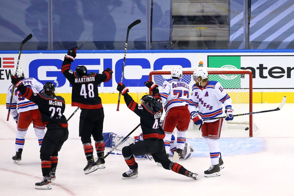 NHL: Eastern Conference Qualifications-New York Rangers vs Carolina Hurricanes