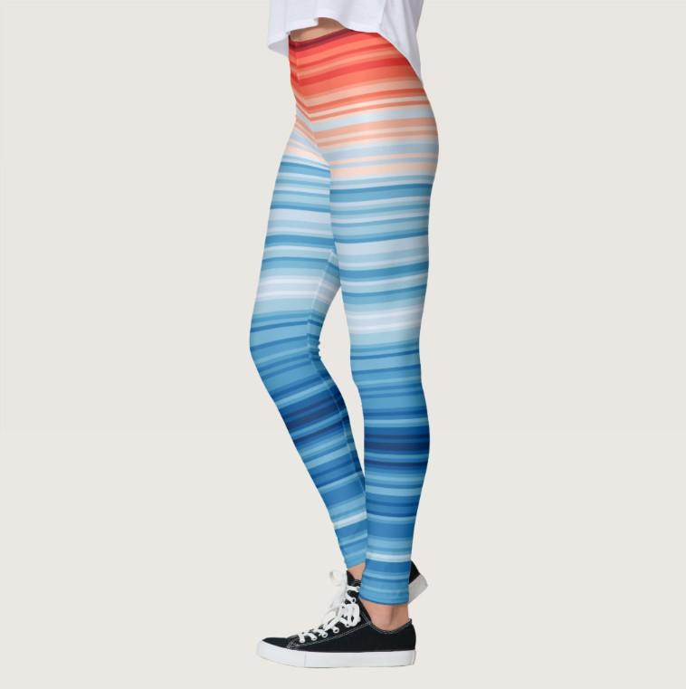 Climate stripe leggings
