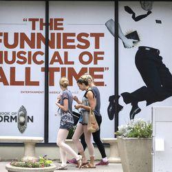 """The Book of Mormon"" musical billboard"