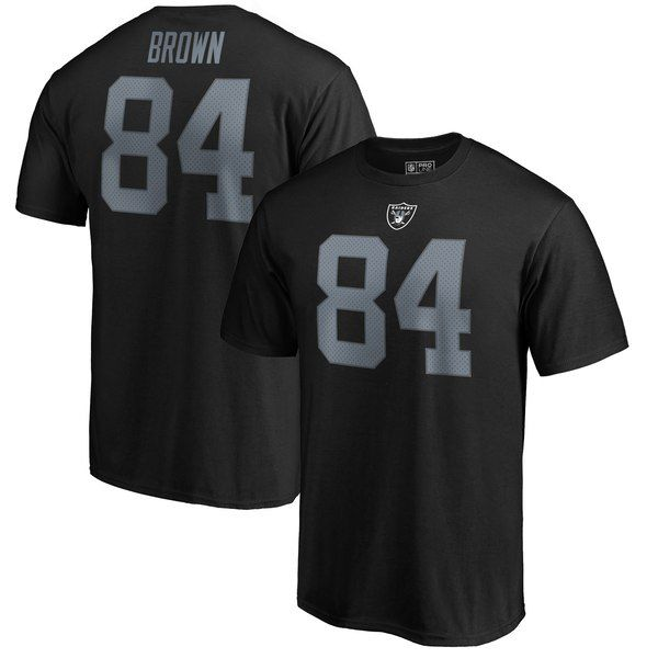 832f5ac88 Antonio Brown Oakland Raiders NFL Pro Line Name & Number T-Shirt - Black  for $31.99 Fanatics