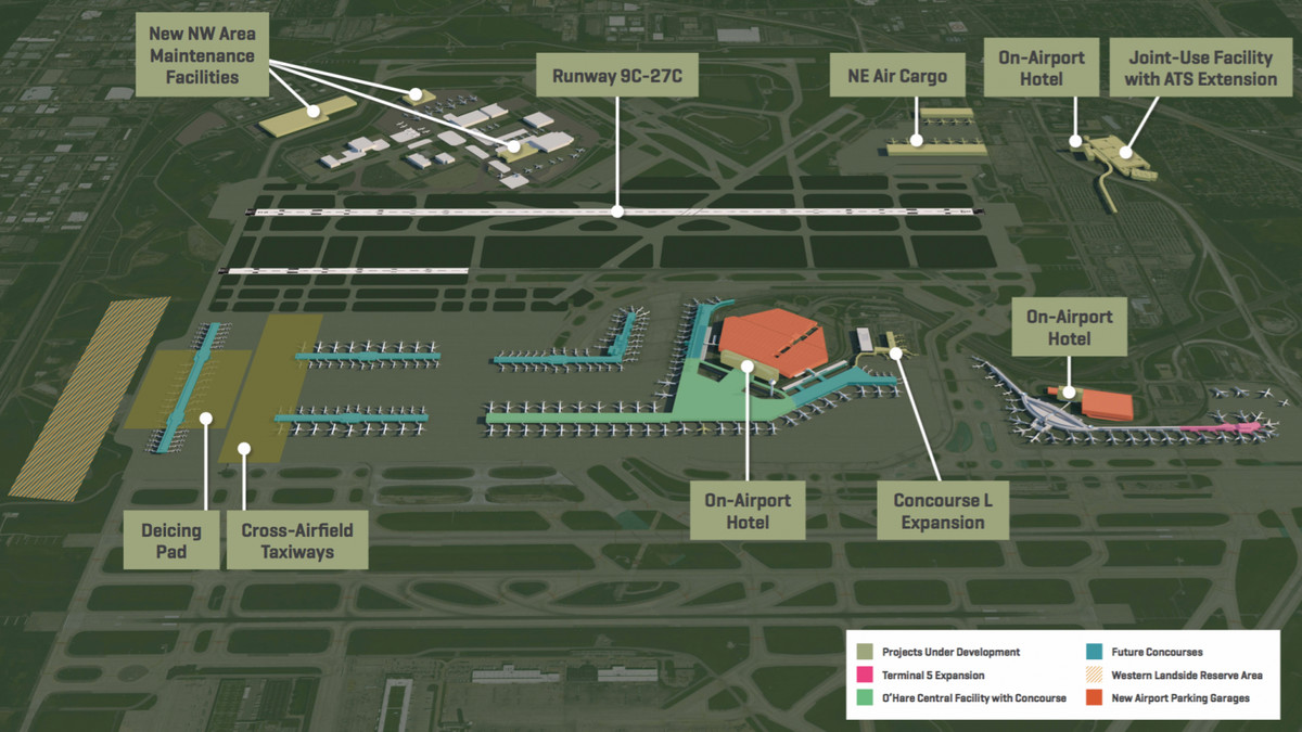 Work to start on O\'Hare\'s $70M concourse expansion project - Curbed ...