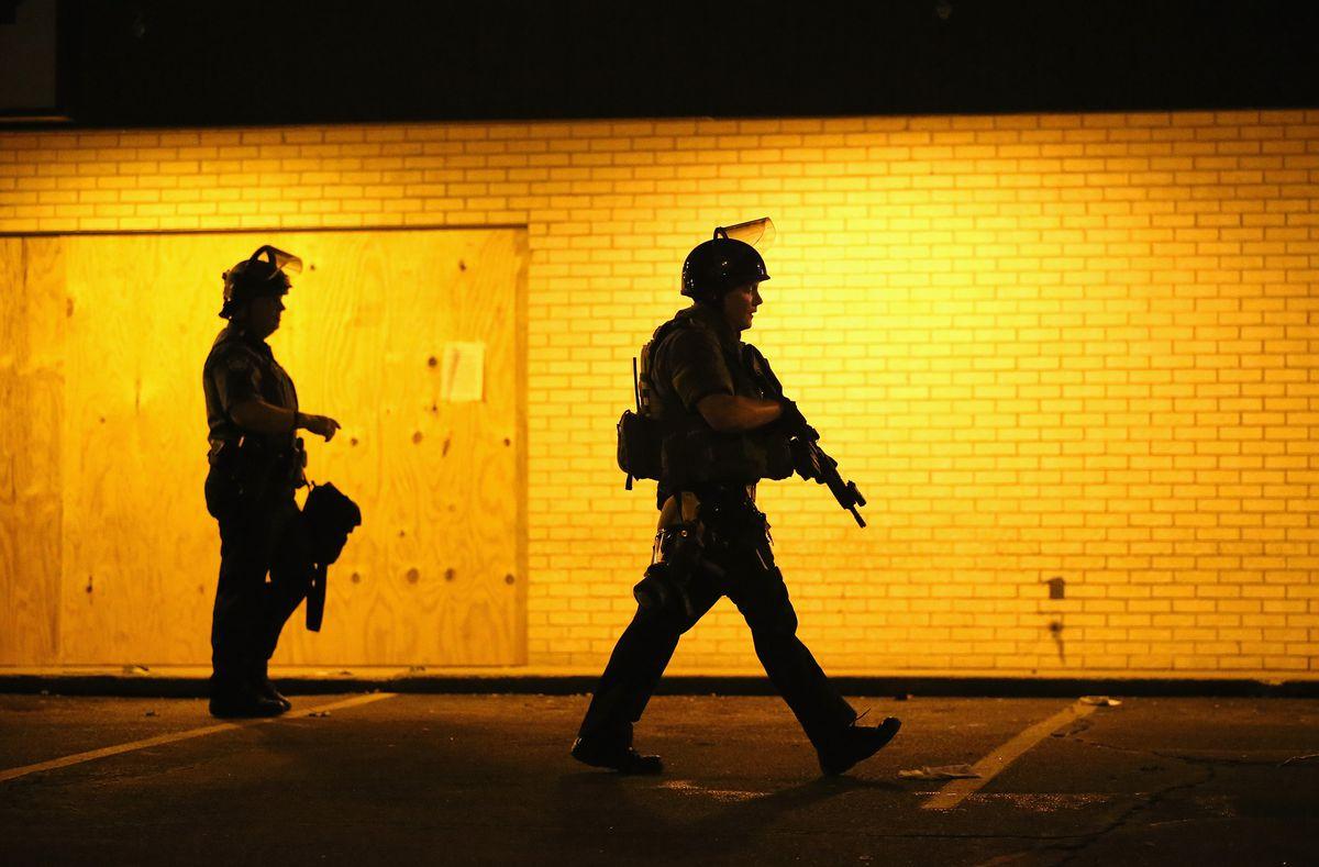 Police officers in Ferguson, Missouri.