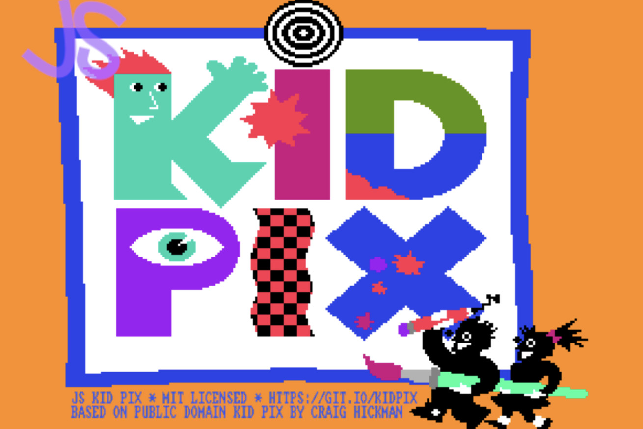 Draw like it's 1989 with this Kid Pix web app