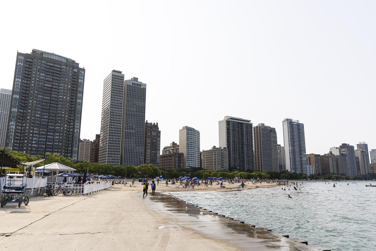Oak Street Beach on Aug. 4, 2021.