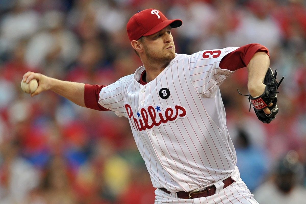 Two-time Cy Young Award winner Kyle Kendrick could not beat an emaciated, dehydrated back-of-the-rotation .500 pitcher like Tim Lincecum. (Photo by Drew Hallowell/Getty Images)