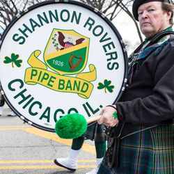 The Shannon Rovers at the 2018 Chicago St. Patrick's Day Parade, Saturday, March 17th, 2018. | James Foster/For the Sun-Times