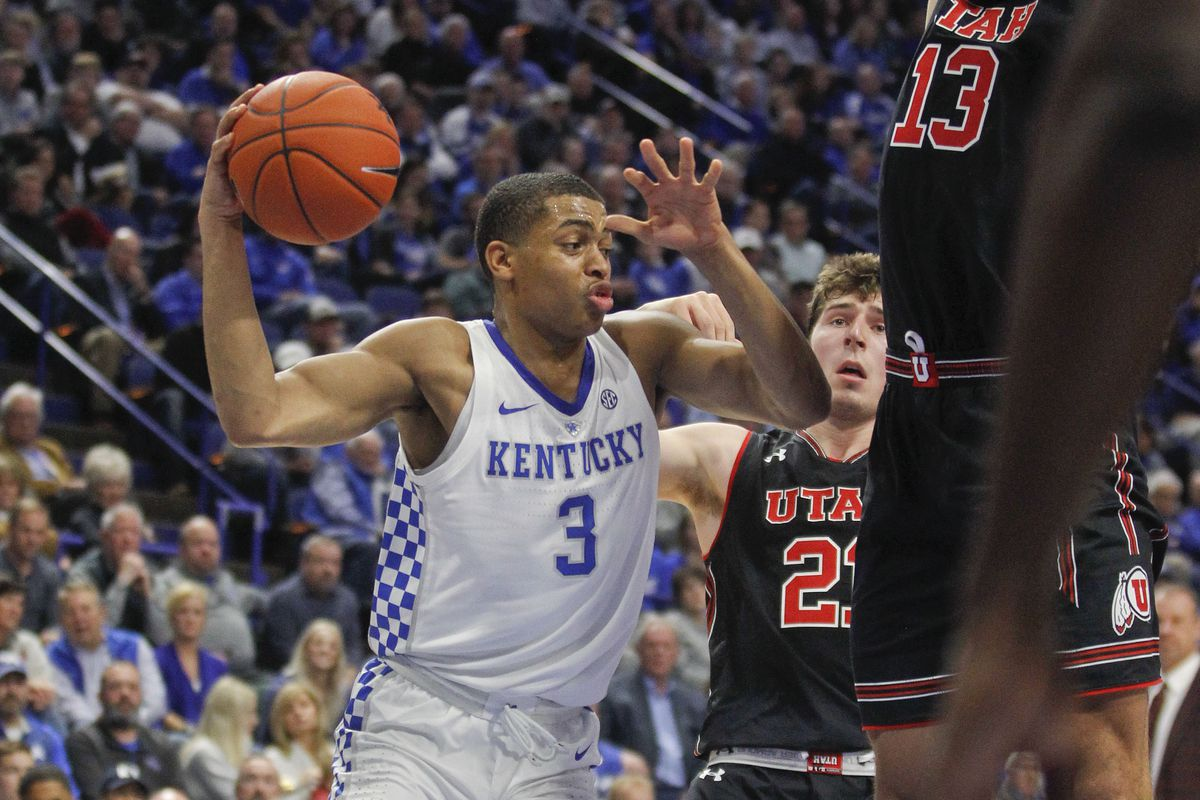 NCAA Basketball: Utah at Kentucky