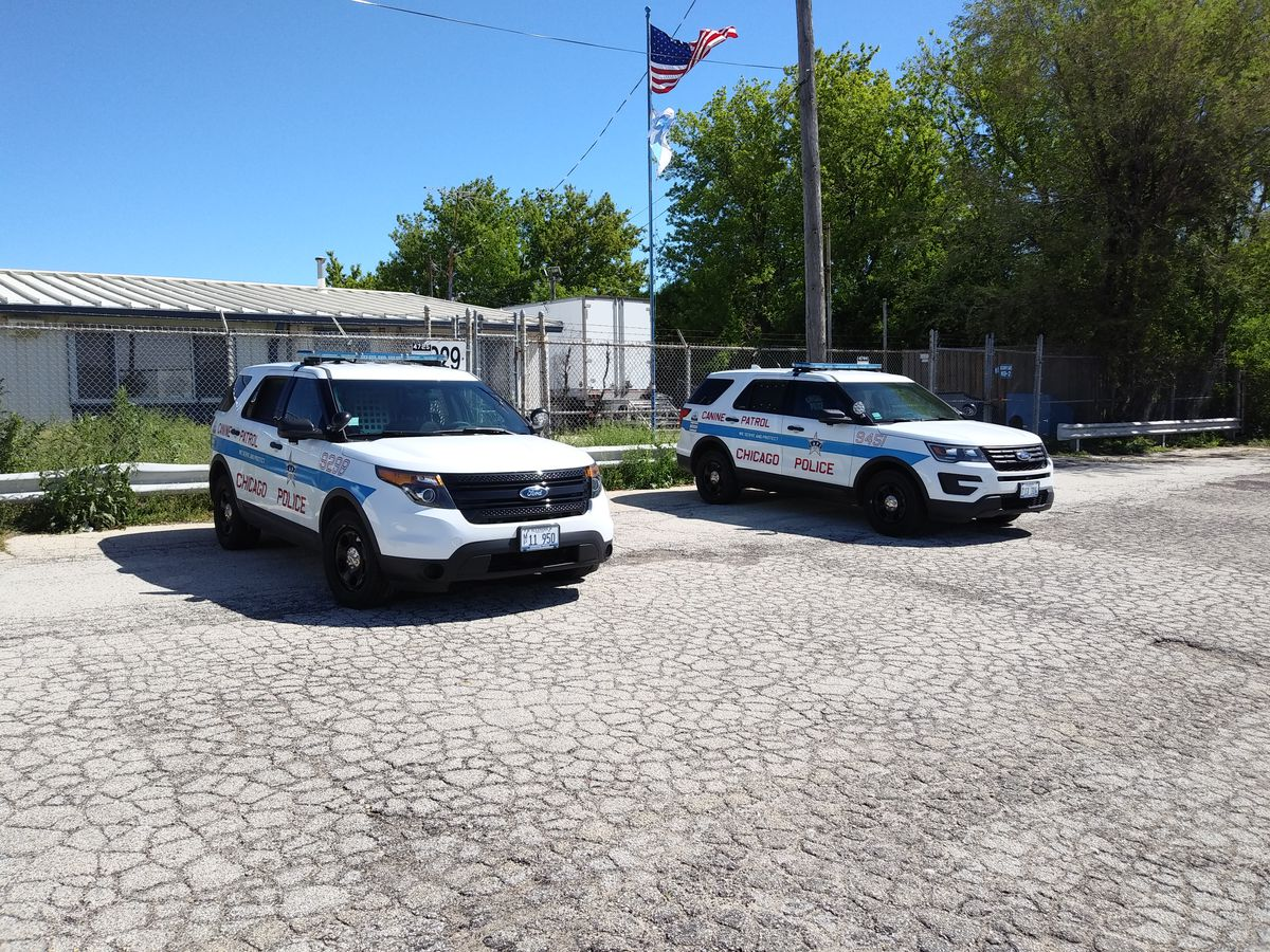 The Chicago Police Department's K-9 Training Facility occupies Touhy Avenue frontage leading to the American Airlines Flight 191 crash site.