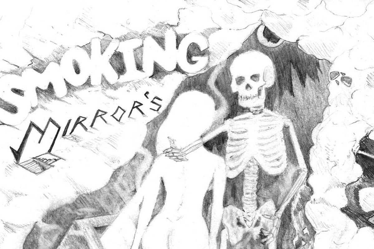 "Wifisfuneral's ""Smoking Mirrors"" artwork"