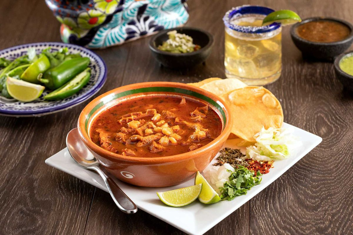 Pozole rojo on the menu at Leticia's Cocina & Cantina, coming soon to the Sunset Station resort.