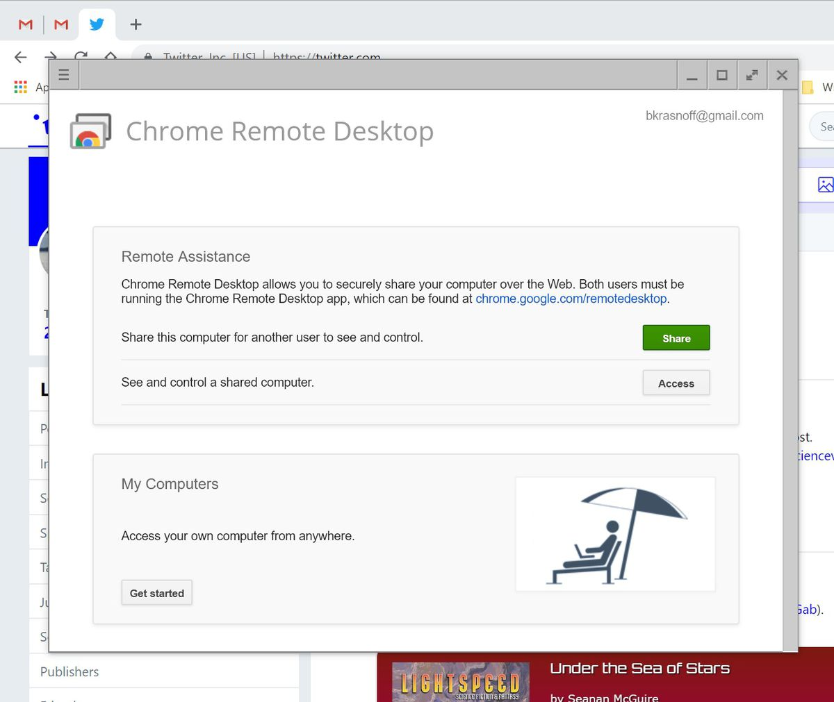 How to access a remote computer using Google Remote Desktop