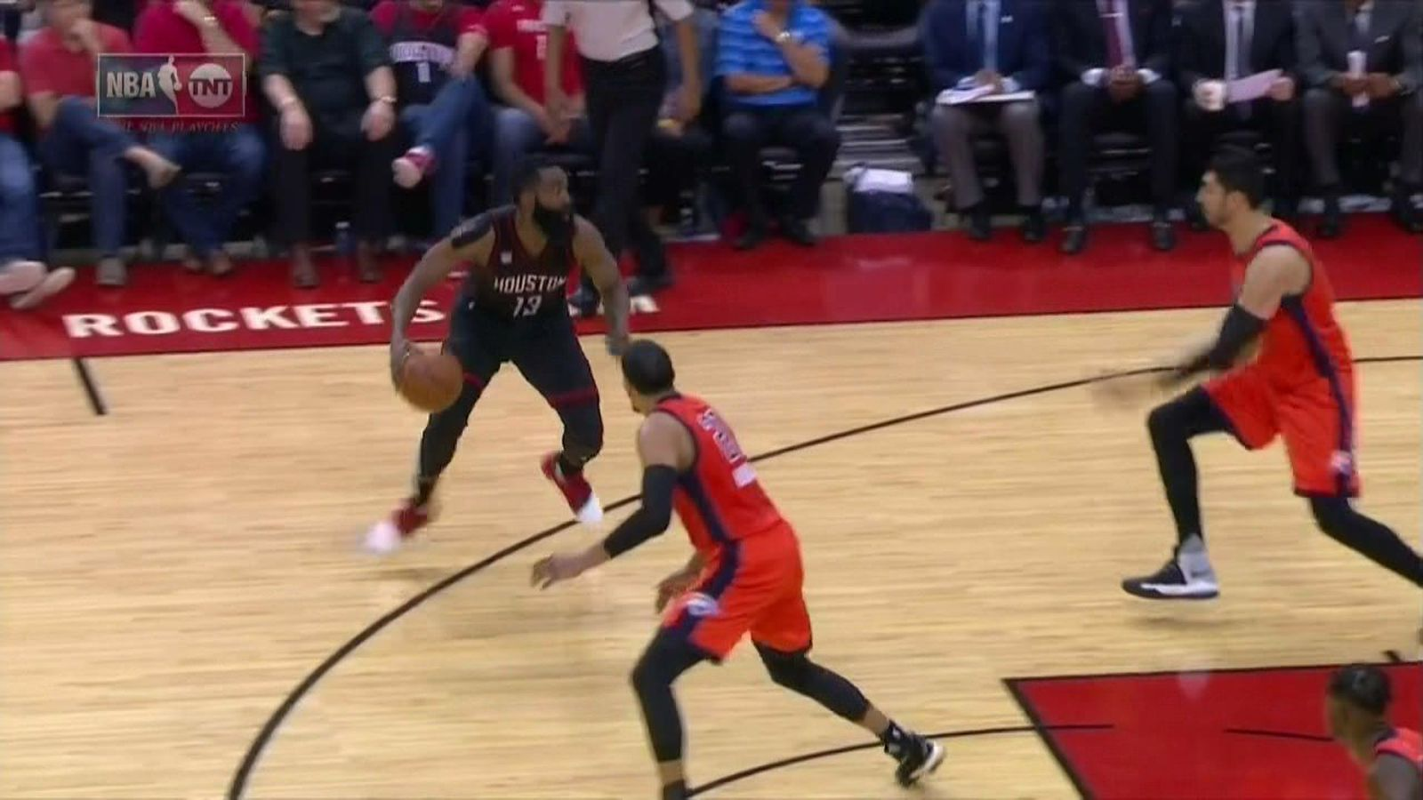 james harden made enes kanter play twister with a vicious