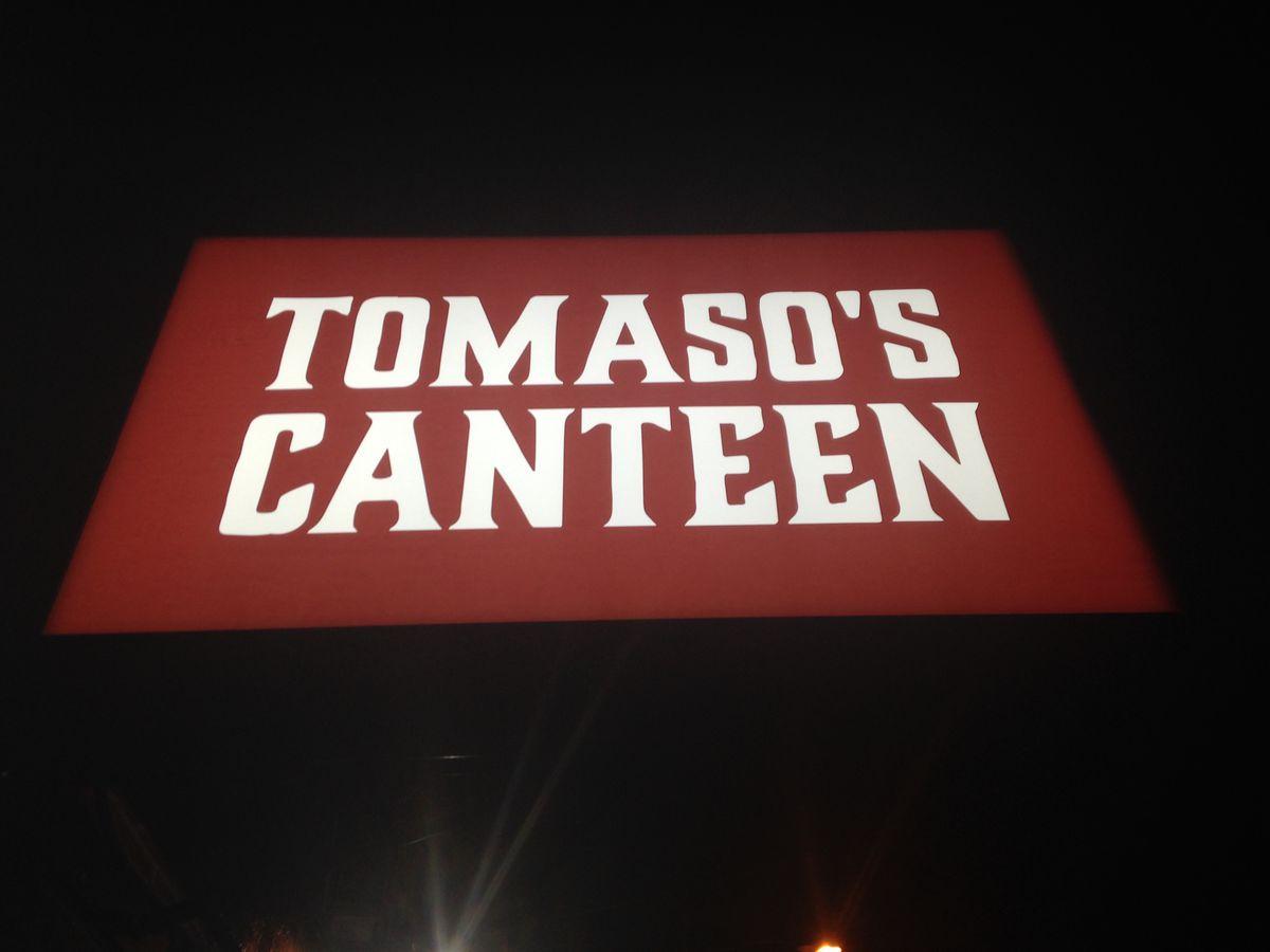 tomaso's canteen ext sign
