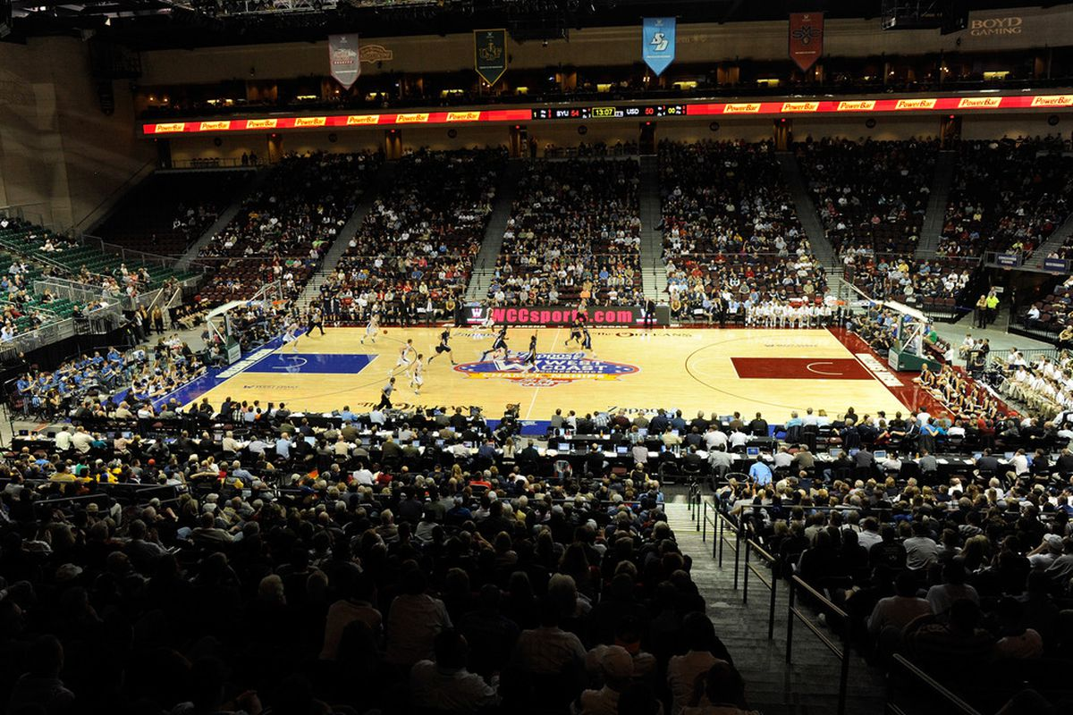 BYU vs. San Diego in the 2012 WCC Tournament at Orleans Arena in Las Vegas.