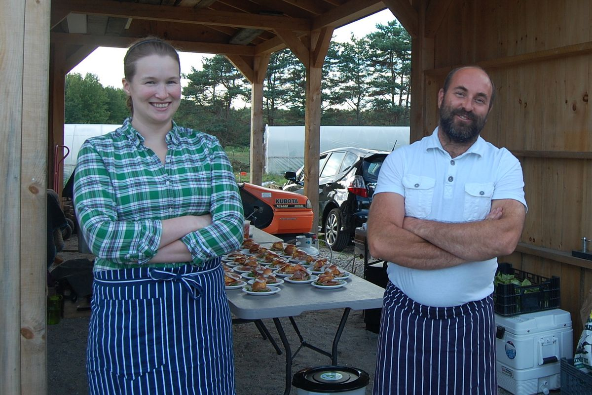 Rosemont kitchen manager Erin Lynch (L) and Rosemont Productions chef Brad Messier.
