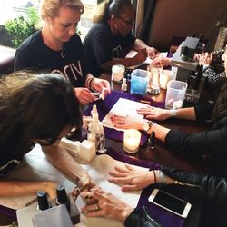 Complimentary VIP manis provided by Priv.