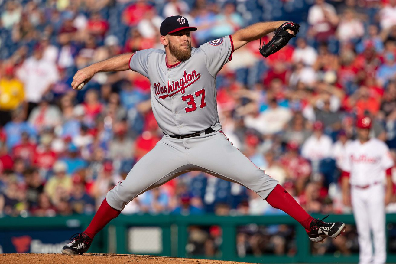 In the midst of a strong season, Stephen Strasburg's player option looms