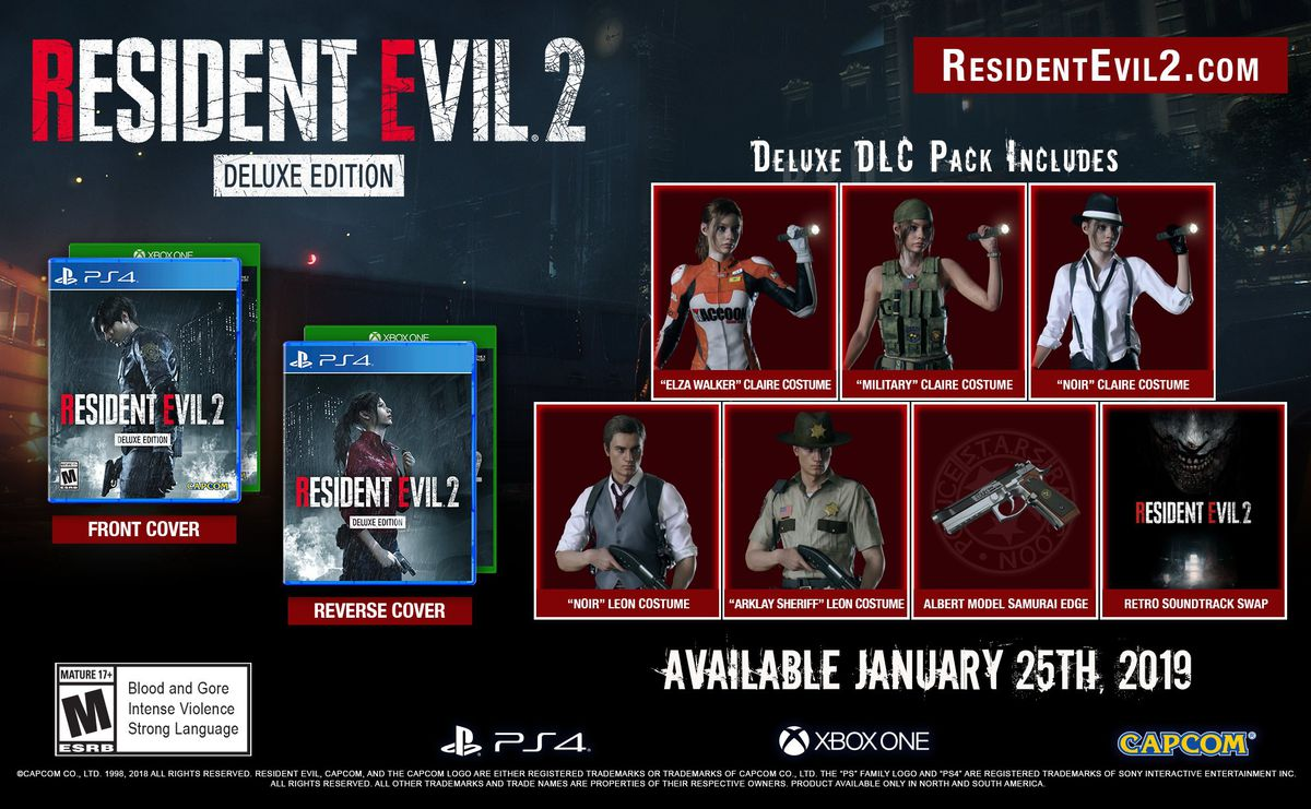 Resident Evil 2 remake's Deluxe Edition includes some great