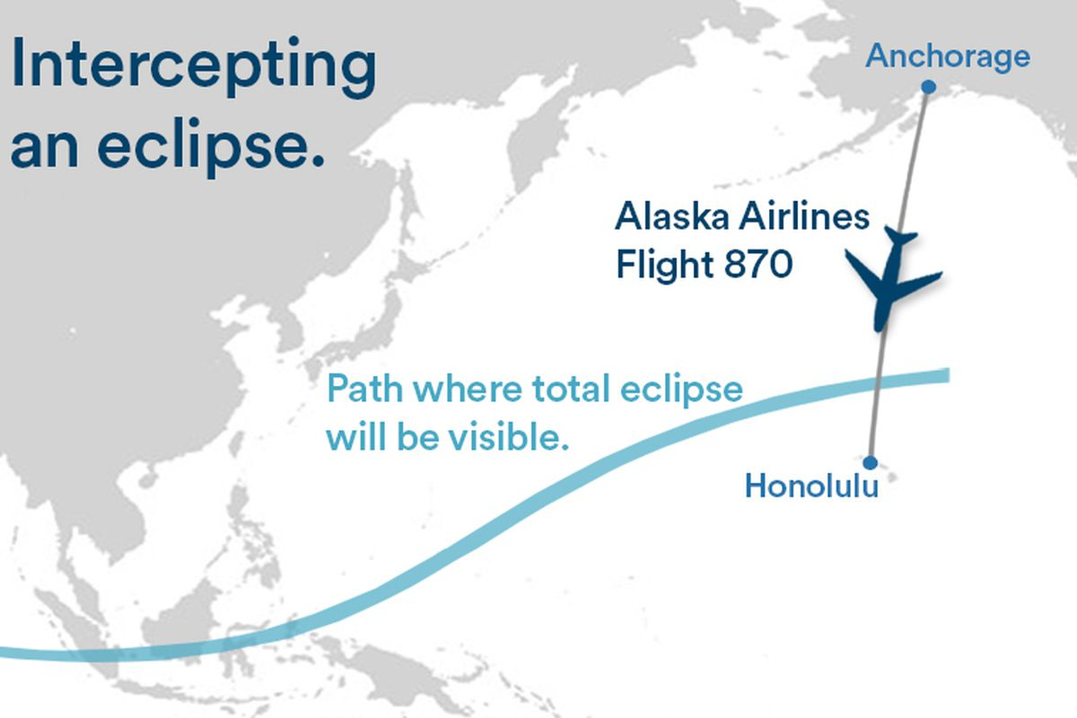 Vox Eclipse Map.Alaska Airlines Is Adjusting A Plane S Flight Plan So Passengers Can