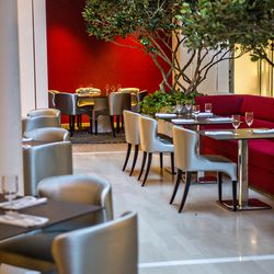 Semi-private dining rooms are interspersed throughout the main dining area of JP Atlanta.