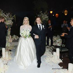 Holly Madison and Pasquale Rotella walk down the aisle.