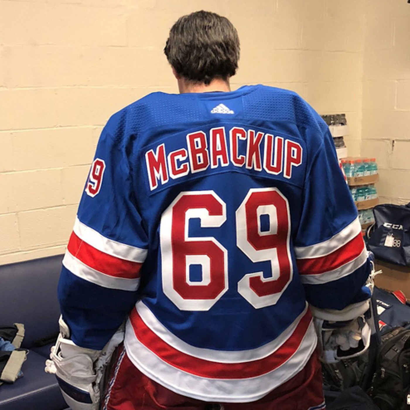 Rangers make their emergency goalie wear a No. 69  McBackup  uniform -  SBNation.com a25010c48