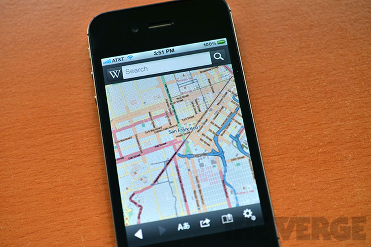 Wikipedia updates mobile apps, drops Google Maps for