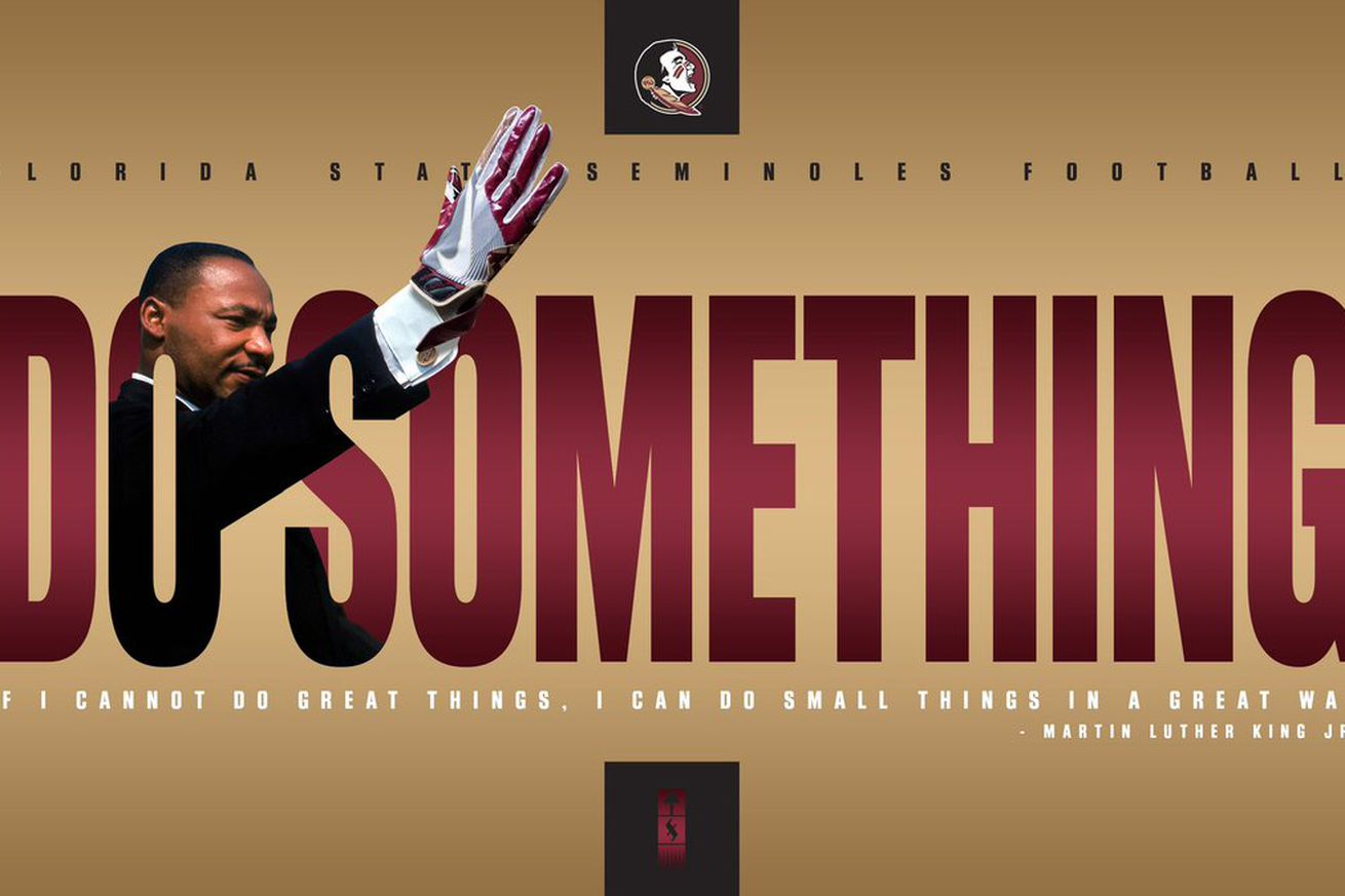 DxdASp9X0AElyKs.0 - 4 problematic things about FSU's bizarre, deleted MLK graphic