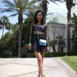 "Rachel of <a href=""http://www.thatschic.net/"">That's Chic</a> is wearing a <a href=""http://www.threadsence.com/dark-garden-mesh-bodice-dress-p-7177.html"">Threadsense</a> dress, a <a href=""http://www.zappos.com/juicy-couture-sophia-mini-bag-w-stone-malibu-"