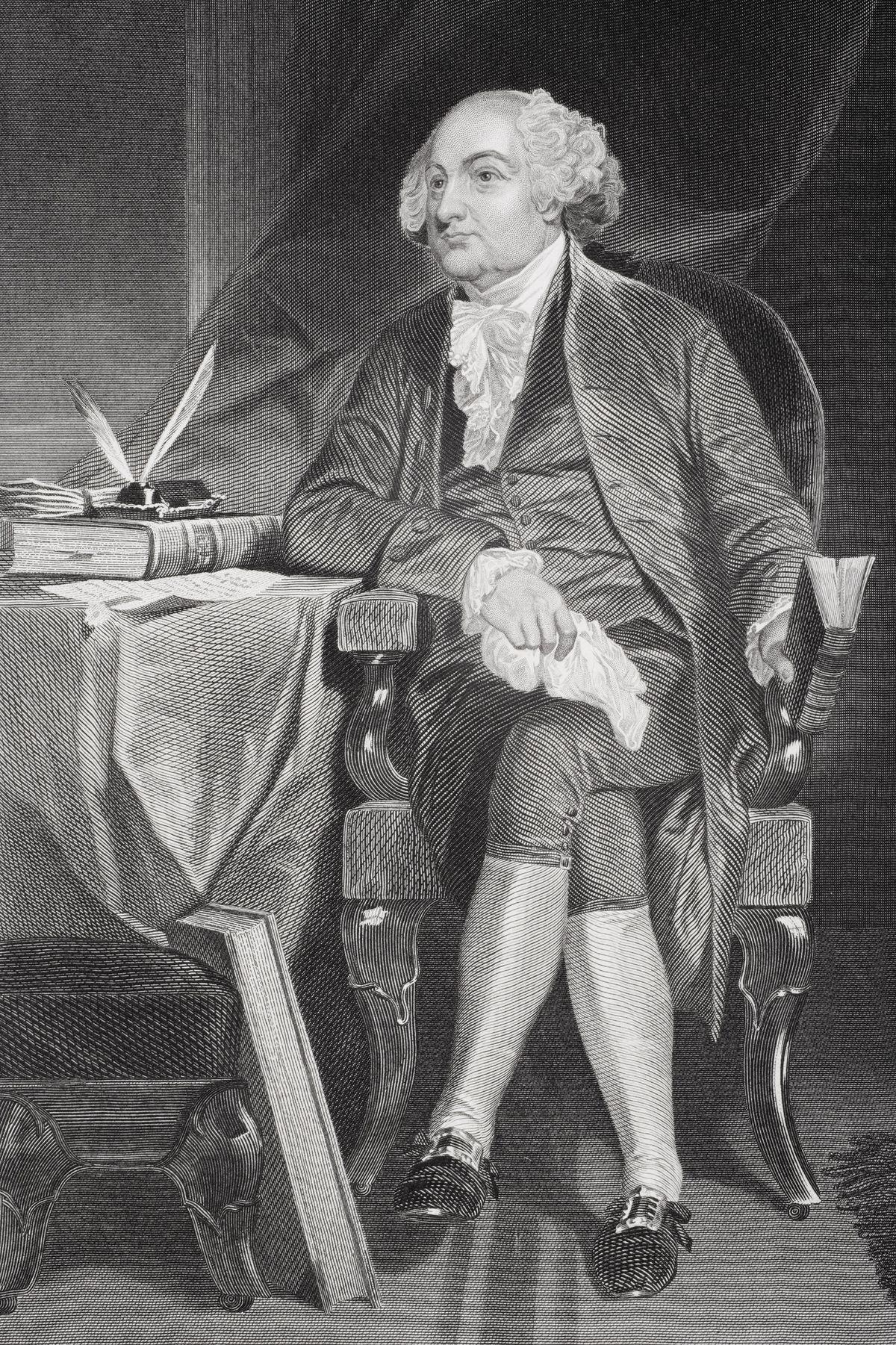 John Adams, showing some leg.