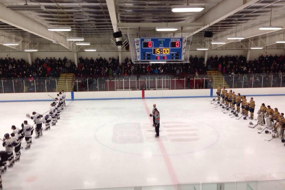 A packed house at The Olympia Ice Center in West Springfield was treated to a terrific hockey game.