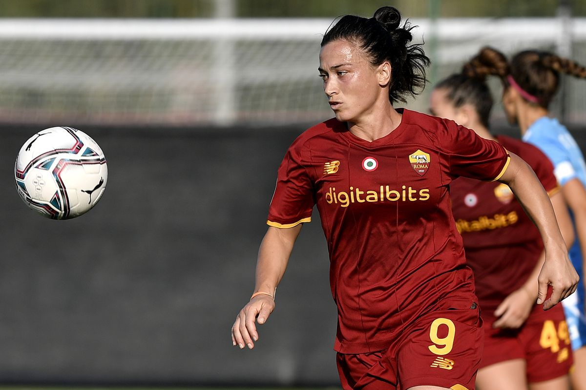 Valeria Pirone of AS Roma in action during the Women Serie A...