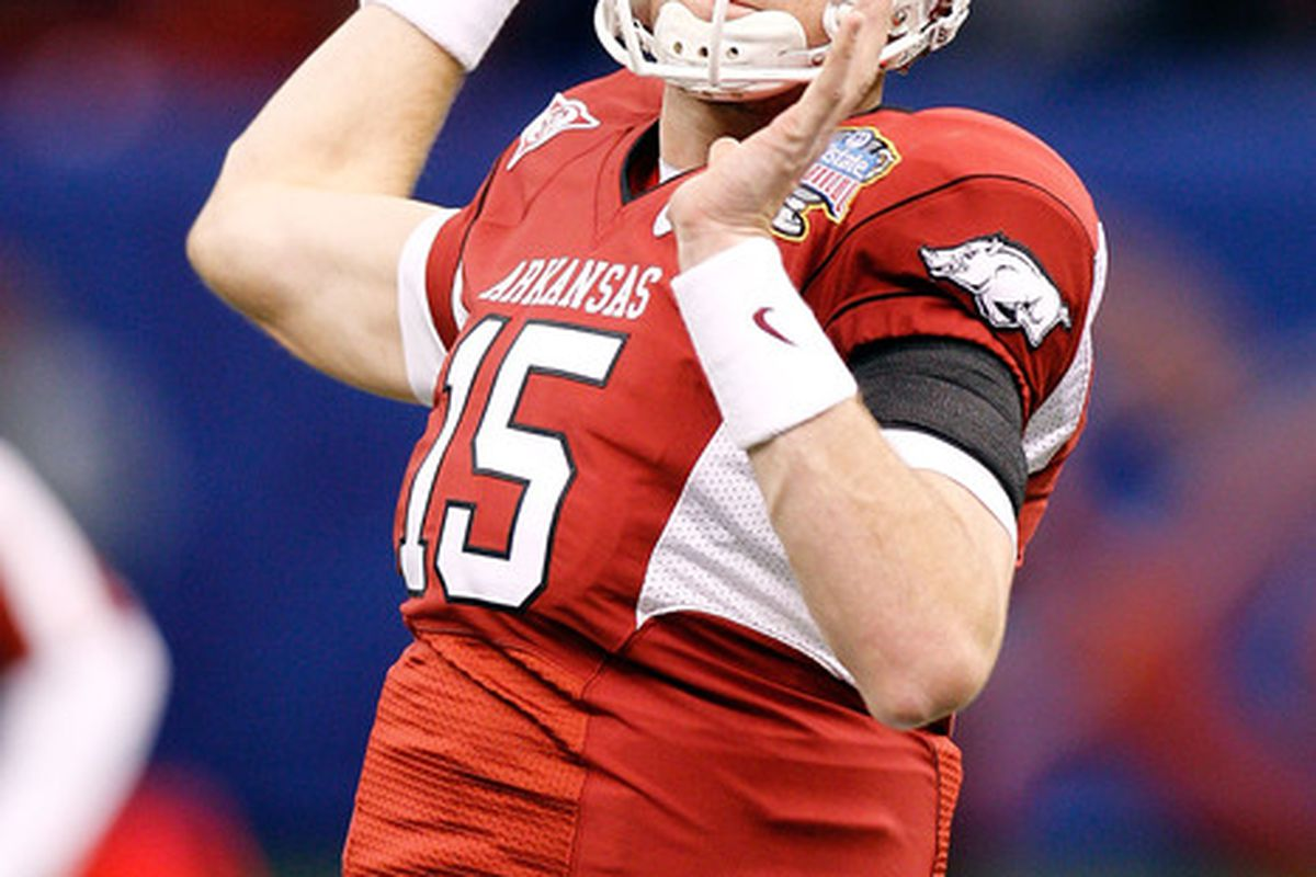 <strong>Ryan Mallett</strong>.  (Photo by Chris Graythen/Getty Images)