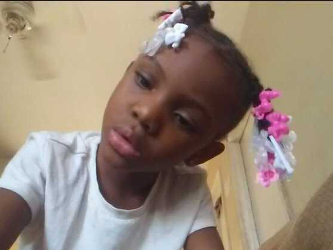 Jaslyn Adams, 7, was shot and killed while at a McDonald's Thursday afternoon with her father, Jontae Adams, 28, who was seriously wounded.