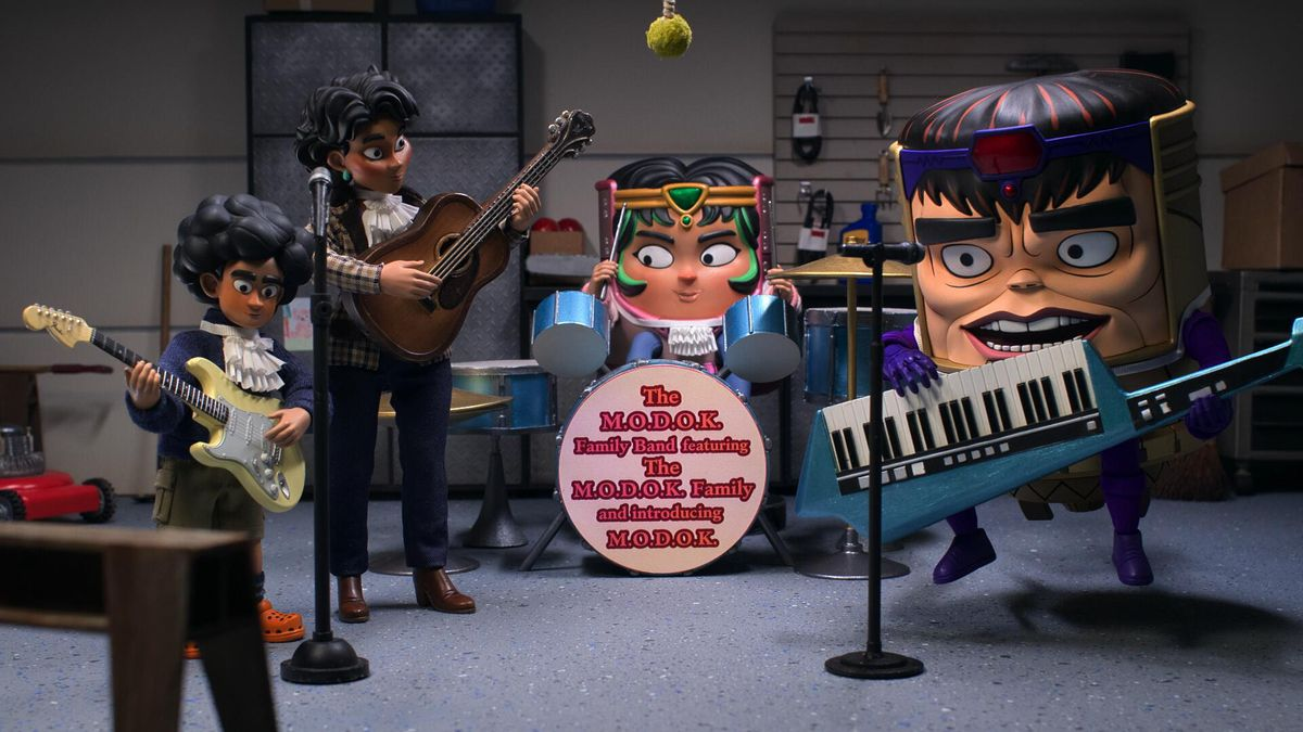 The M.O.D.O.K. Family Band practices together